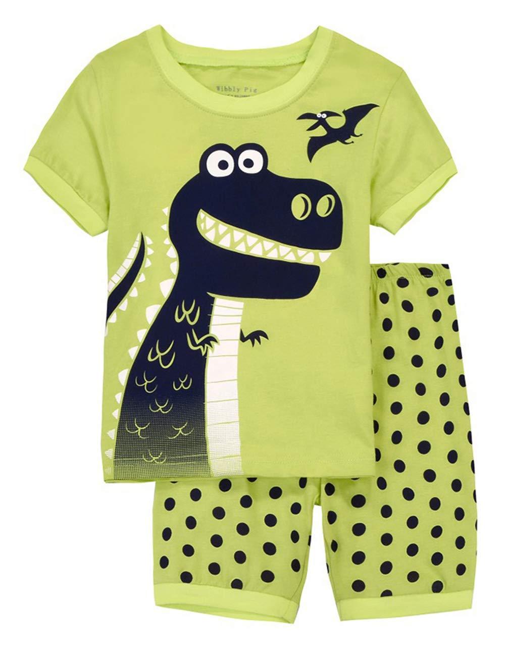 Boys Dinosaur Pajamas Kids 100% Cotton Halloween Christmas PJs Saurus Sleepwear Sets