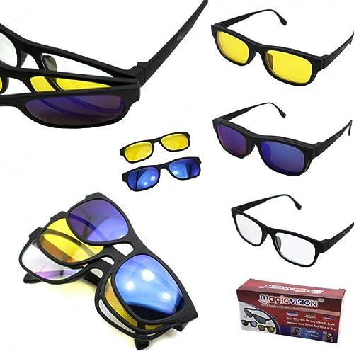 M.V Gafas de Sol POLARIZADAS 3 EN 1. Cristales MAGNETICOS Intercambiables: Amazon.es: Zapatos y complementos