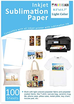 100 A4 Dye Sublimation Heat Transfer Paper Desktop Inkjet Printer Heat Transfer