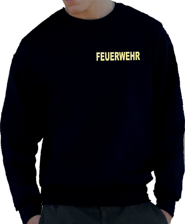 FEUERWEHR fluoreszierend Sweatshirt navy nachleuchtend