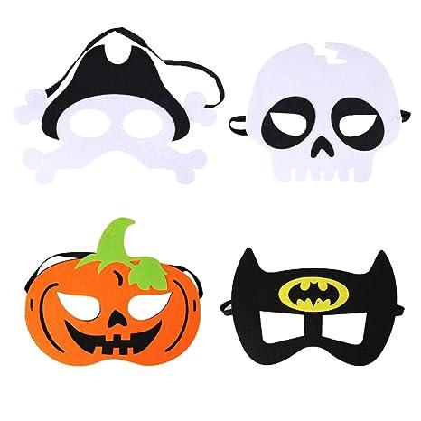 FairOnly Carnaval Halloween Calabaza Pirata Calavera Bate Mitad Cara máscara para niños Mascarada Fiesta Cara Campana