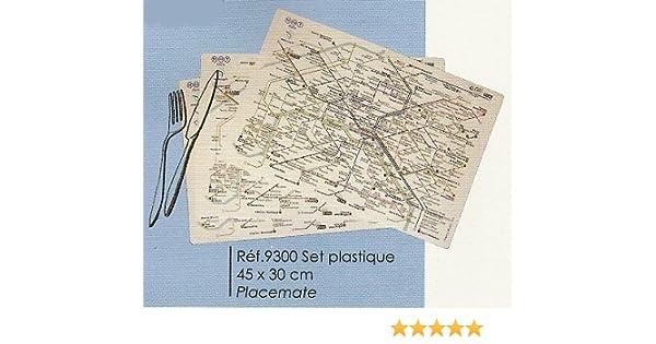 FRANCIA VINTAGE MANTEL INDIVIDUAL MAPA DEL METRO RATP PARIS ...