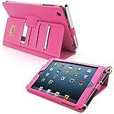 Snugg™ - Étui Professionnel Pour iPad Mini & iPad Mini 2 - Smart Case Avec Compartiment Pour Cartes Et Une Garantie à Vie (En Cuir Rose Foncé) Pour Apple iPad Mini & iPad Mini 2