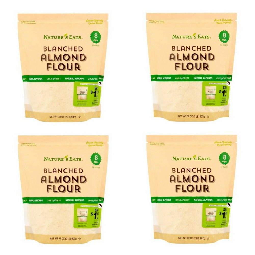Nature's Eats Blanched Almond Flour, 32 Ounce (Pack of 4)