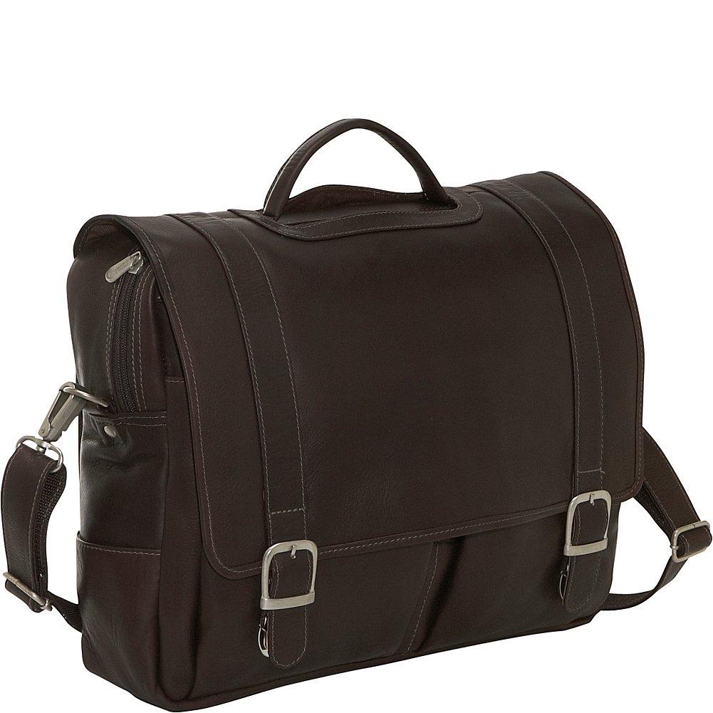 Piel Leather Ultimate Organized Portfolio, Chocolate, One Size