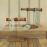Piper Wood Spool Jewelry Stand - 2 Spool