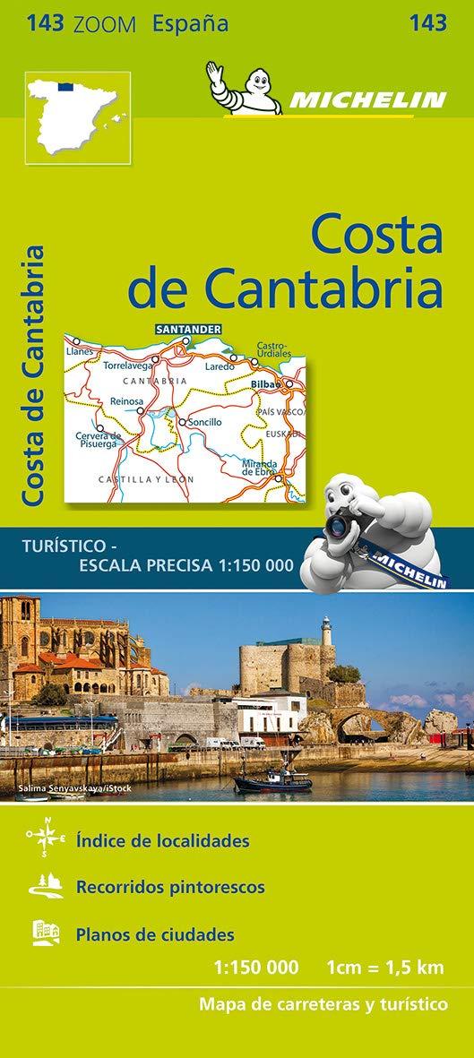 Mapa Zoom Costa de Cantabria (Mapas Zoom Michelin): Amazon.es: Vv ...