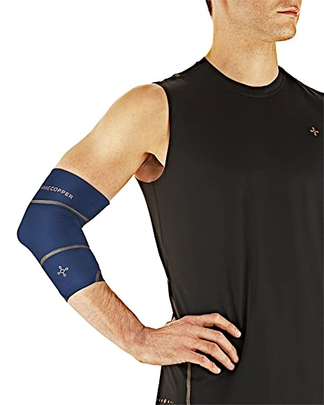 b5963a2d0c Tommie Copper Men's Performance Boost Elbow Sleeve, Cobalt Blue, Small