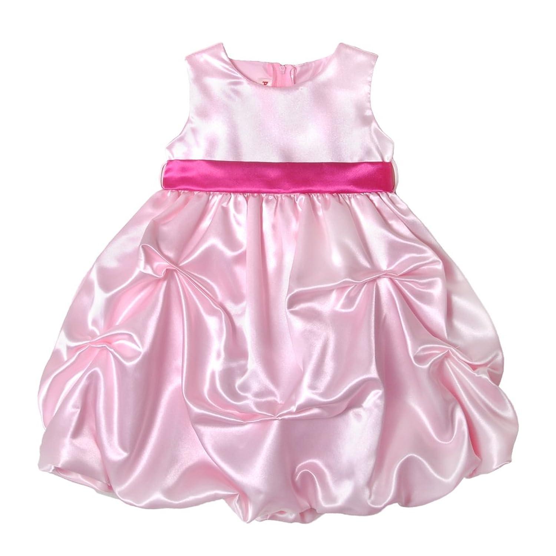 Amazon Pink Satin Pickup Baby Dress Fuchsia Sash XL Clothing