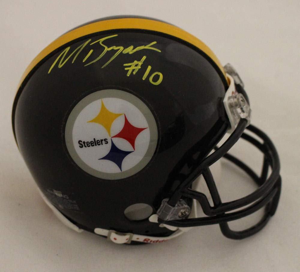 dc9460acb Amazon.com  Martavis Bryant Autographed Pittsburgh Steelers Black Mini  Helmet JSA  Sports Collectibles