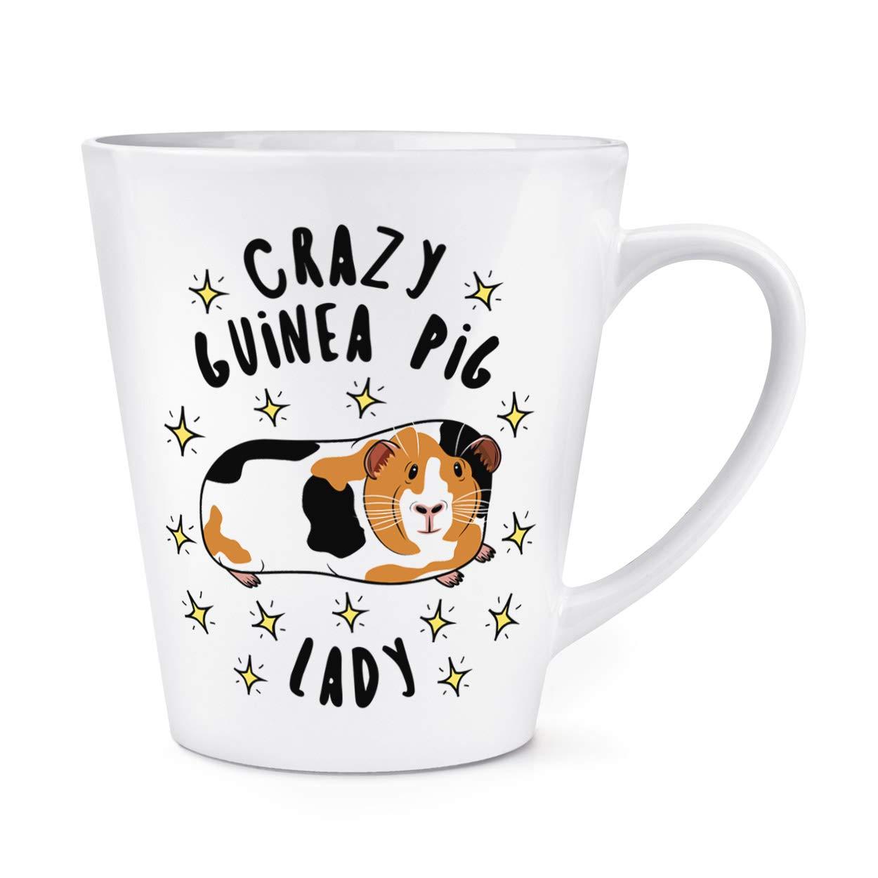 Crazy Guinea Pig Lady Stars 12oz Latte Mug Cup Gift Base®