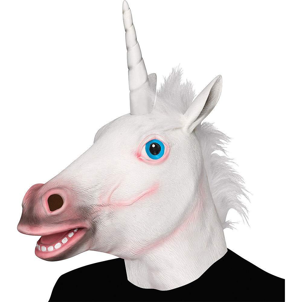 XIAO MO GU Masque de Tête d'animal Licorne en Latex, Masque Décorations de Costumes Halloween Party product image