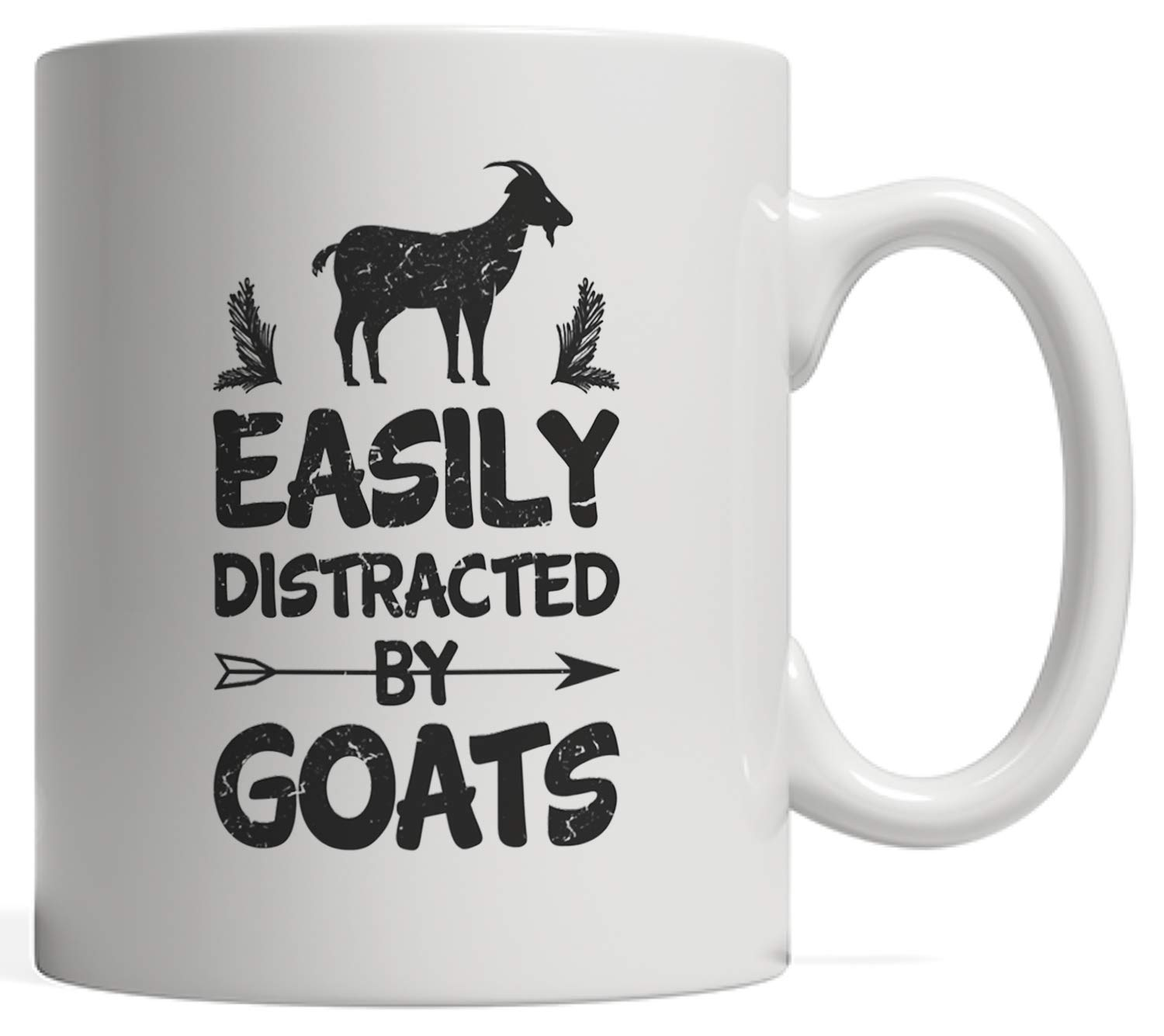 ab880007 Easily Distracted By Goats Mug - Great Gag Gift for Goat Lovers,  Whispererers & Riders - Give it to Your Goat Dad! For your Crazy Goat Lady  Friend | Also ...