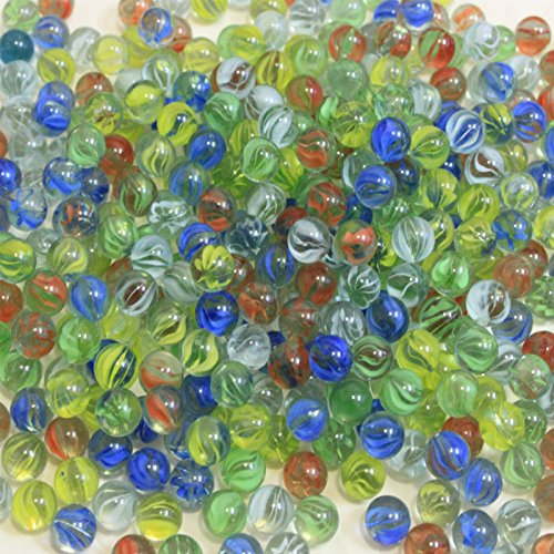 BeautyMood 300 pcs Player Marbles in bulk Glass Marbles for Children( Random Color )