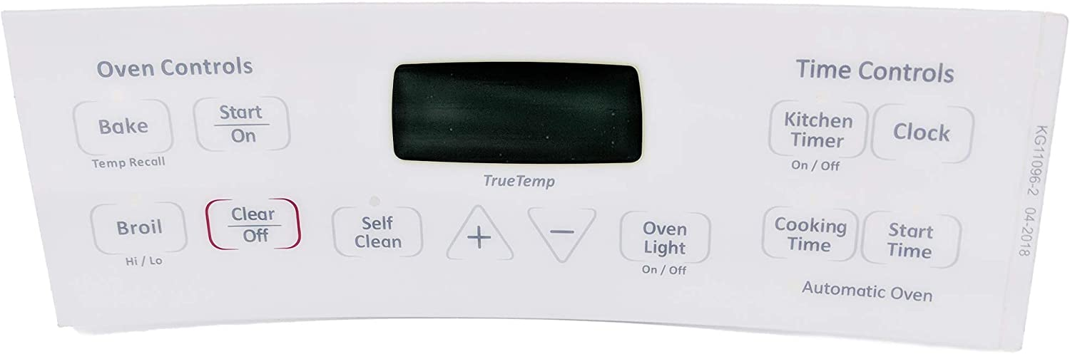 Supplying Demand WB27T11006 White Overlay For Oven Control Fits AP4344364 PS2321448