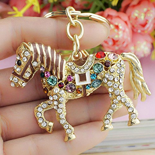 HARDWARE FOR YOU LTD 1 CRYSTAL HORSE KEYRING Supplied by HARDWARE FOR YOU