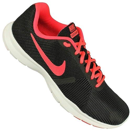 36296ccf64d12 Nike Women s WMNS Flex Bijoux Black Solar Red Multisport Training Shoes-6  UK