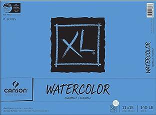 """Canson XL acuarela Pad, Plegable, Blanco, 11""""X15"""", 1"""