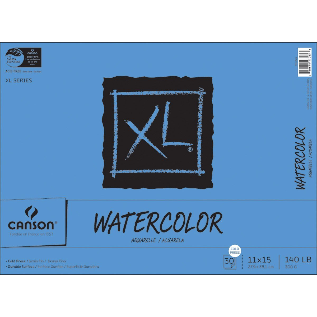 Canson XL Series Newsprint Paper Pad 9 x 12 Inch Fold Over 30 Pound 100 Sheets for Charcoal and Pencil