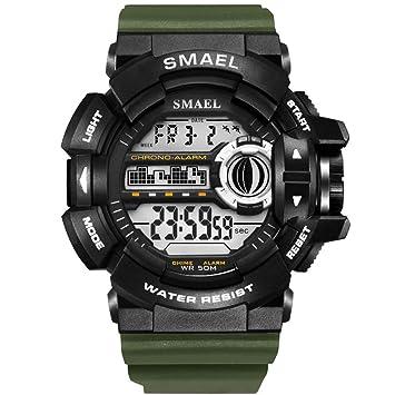 SMAEL LED Digital Wrsitwatches Relojes Militares Relojes Deportivos para Hombres Relojes Resistentes A Los Hombres S Reloj Impermeable,E: Amazon.es: ...