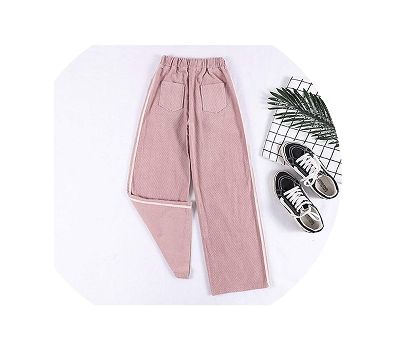 Pink I'll NEVER BE HER Autumn Winter Women's Pants Corduroy Wide Leg Pants Thick Warm Loose 2018 Female Casual Corduroy Trousers