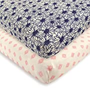Touched by Nature Organic Fitted Crib Sheets, 2 Pack