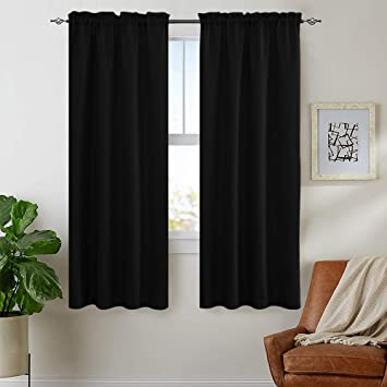 Lazzzy Waffle Weave Textured Shower Curtains 1 Panel 72 Black