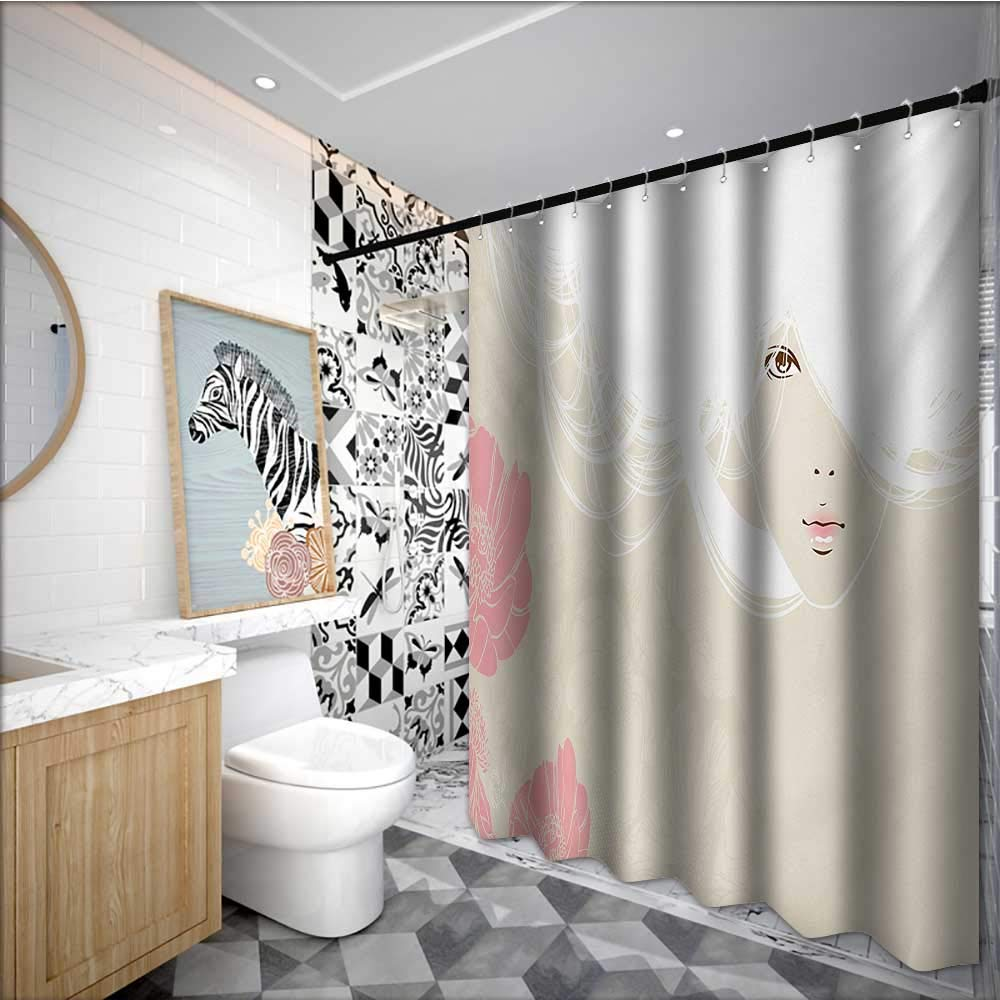 Super Amazon Com Homecoco Girls Polyester Fabric Shower Curtain Andrewgaddart Wooden Chair Designs For Living Room Andrewgaddartcom