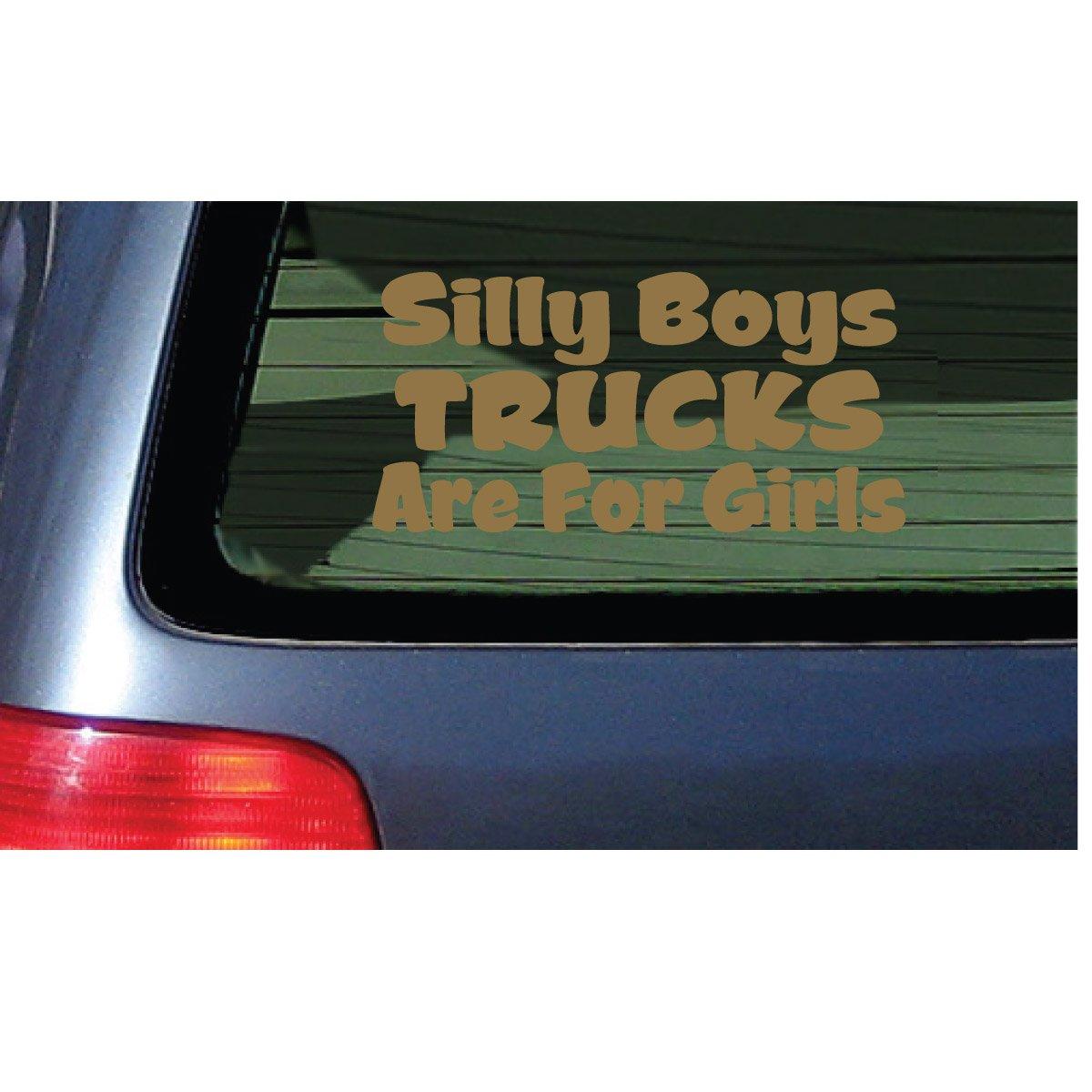 Amazon com silly boys trucks are for girls vinyl decal pink window sticker automotive
