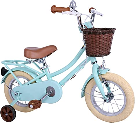 Ppy778 Bicicletas para niños Bicicleta de 12 Pulgadas Bicicleta Azul para niños Bicicletas para niñas con Estilo Bicicleta de Carretera Bicicleta para Estudiantes ...