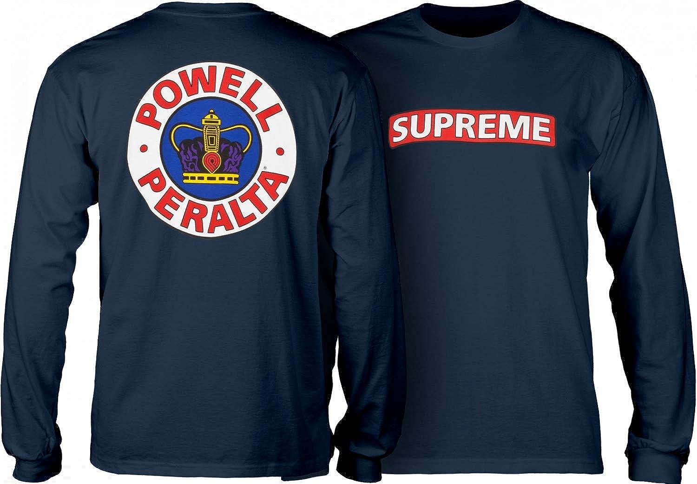 Powell Peralta Supreme Longsleeve Navy T-Shirt Camisa de Skate para Hombre: Amazon.es: Ropa y accesorios