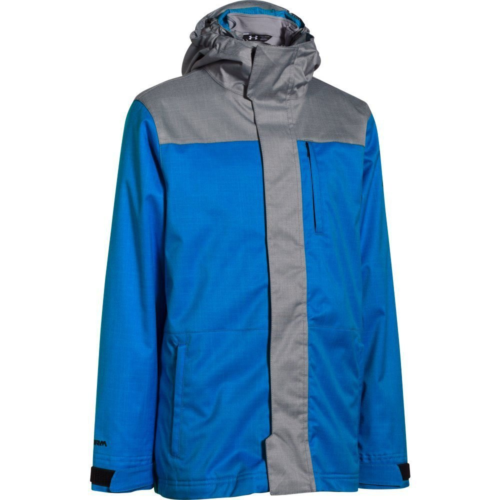 Under Armour Kids Boys UA ColdGear Infrared Wildwood 3-in-1 Jacket (Big Kids), Blue Jet, SM (8