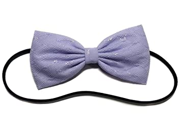 c1ce9b8870b12 Amazon.com : Purple Glitter Lace Kawaii Lolita Hair Bow-girly ...