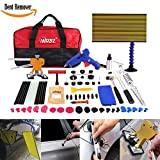 WHDZ 72Pcs Auto Body Dent Removal Tools Kit LED Reflect Light Board Dent Lifter Bridge Puller Set For Car Hail Damage And Door Dings, Paintless Dent Repair Tools Dent Removal Tools