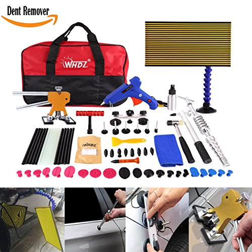 WHDZ 72Pcs Auto Body Dent Removal Tools Kit LED Reflect Light Board Dent Lifter Bridge Puller Set For Car Hail Damage And Door Dings, Paintless Dent Repair Tools Dent Removal Tools by WHDZ