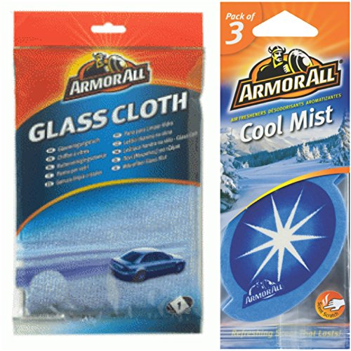 Armor All Combo of All Glass Cloth and Cool Mist Hanging Air Freshener (Pack of 3)