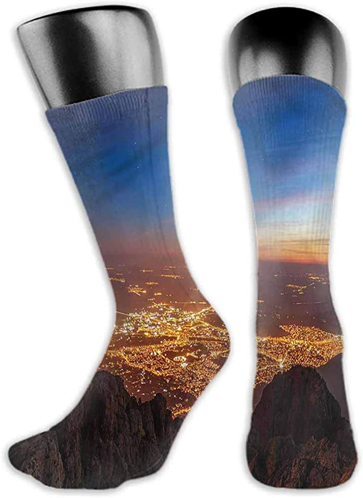 Ankle Socks Hosiery Landscape,Twilight City,socks for men under armour
