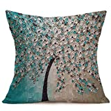 Decorative Pillow Cover - Allywit Home Car Bed Sofa Vintage Decorative Cute Owl Pillow Case Cushion Cover (A)