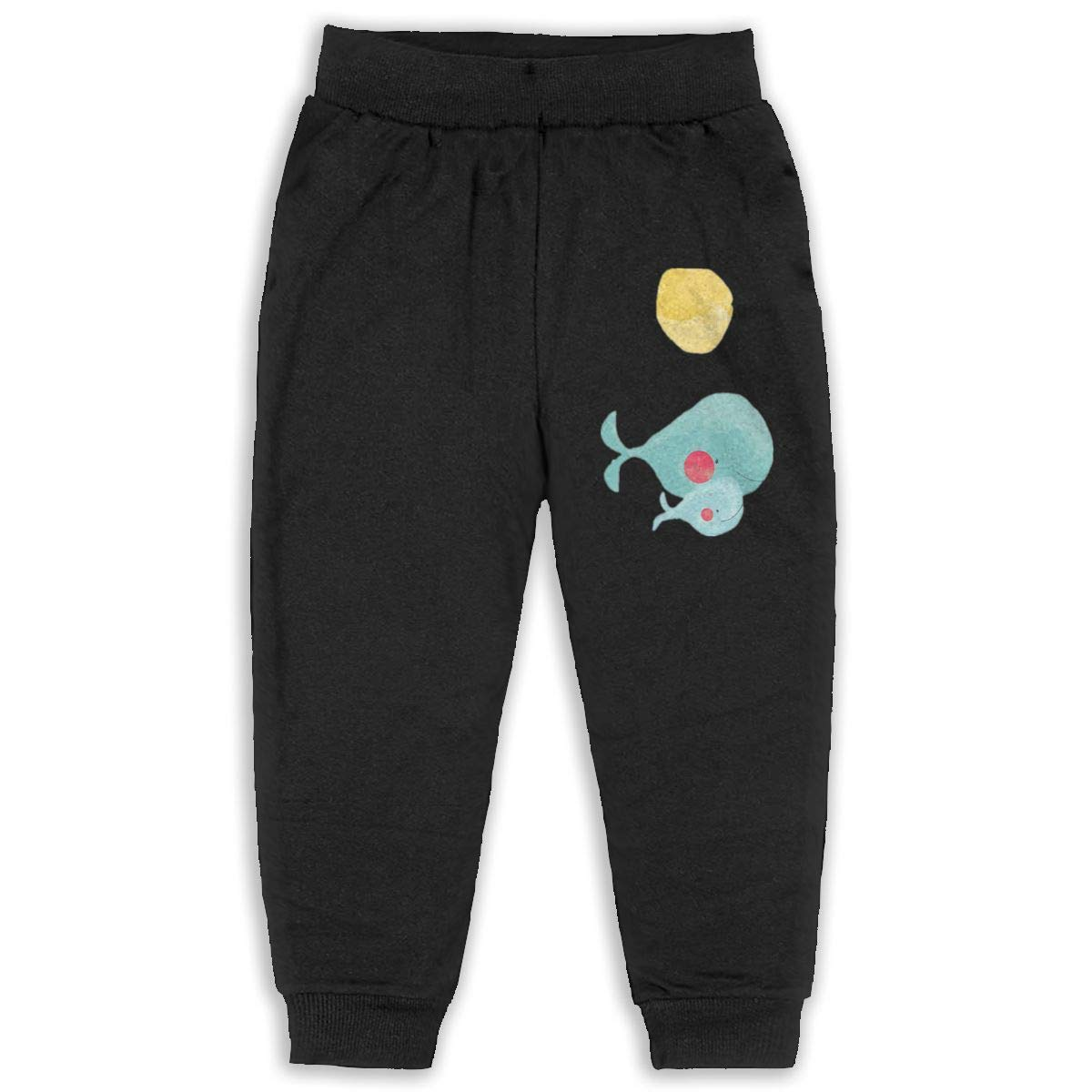 LFCLOSET Cartoon Whale Mom and Baby Children Cartoon Cotton Sweatpants Sport Jogger Elastic Pants
