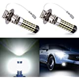 Catinbow LED Fog Light Bulbs H3 High Power 78-3014SMD Auto Fog Lights Replacement 1500LM LED Fog Driving Lights DRL White 6000K - 2 Pcs