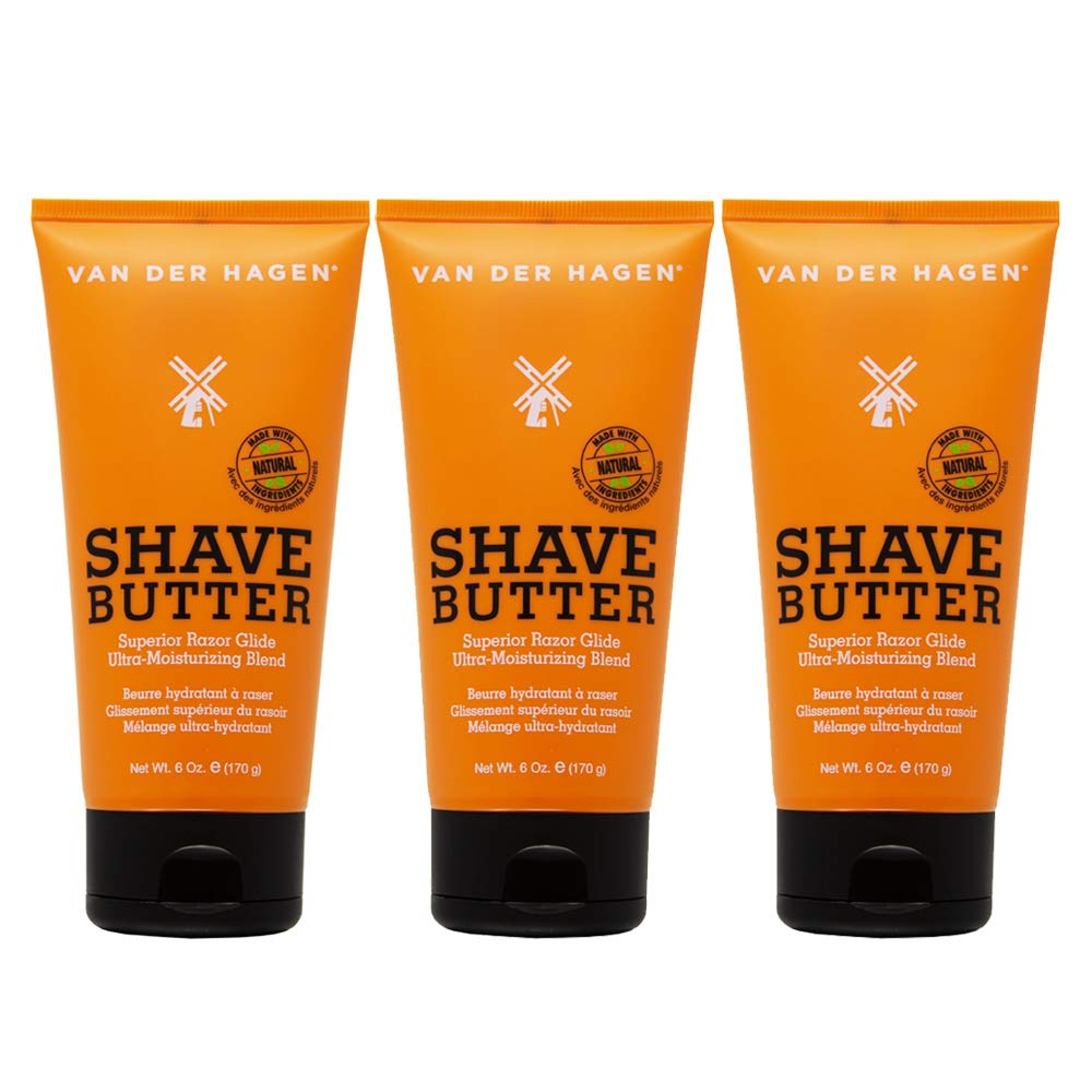 Van Der Hagen Shave Butter 3 pack (6 oz/tube)