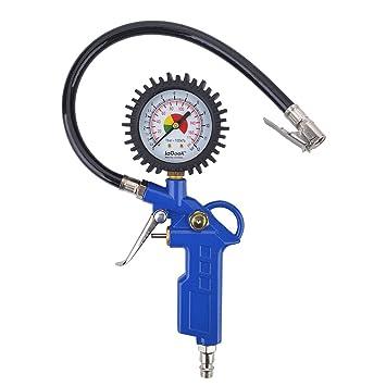 Manometro neumatico,Digital eléctrico inflador de neumáticos con manguera y manómetro para compresor de aire