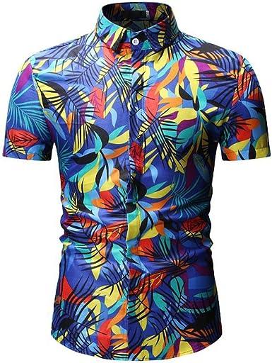 Camisas Hombre Flores 2019 Nuevo SHOBDW Camisetas Hombre Manga ...