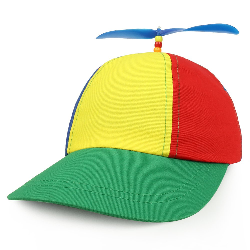Armycrew Cotton Adult Multi-Color Propeller Helicopter Unstructured Baseball Cap JH-14574MCAJ-MULTI