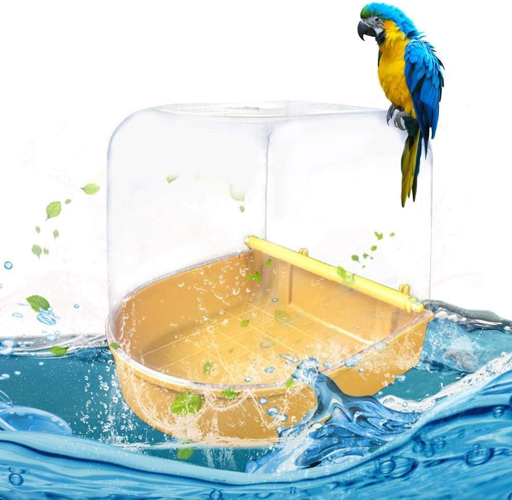 Onlyonehere Knowes Jaula De Pájaros con Caja para Bañera De Pájaros Suministros para Mascotas Loro para Bañera Ducha Estantería.