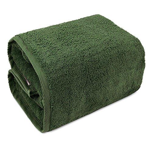Safari Bath Towel (Indulge Linen Bath Sheets, 100% Turkish Cotton (Safari Green, Oversized (40x80 inches) - Set of 1))