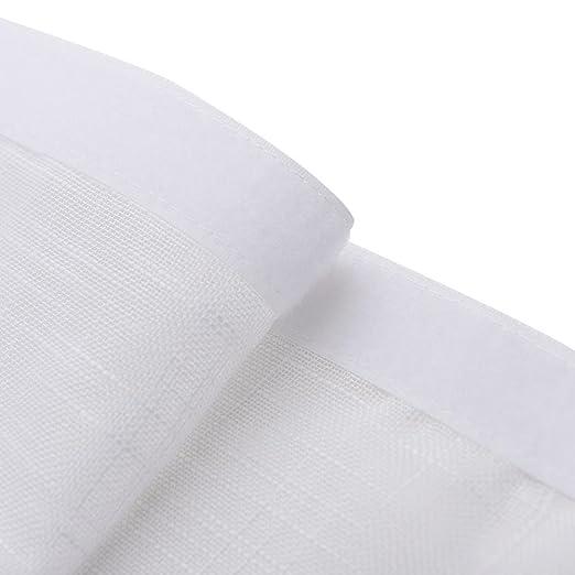 Cortinas y cortinas Cortinas transparentes Velcro Poliéster para Sala de alquiler Cuarto Paño de sombreado baño Ventana plana Sencillo Cuarto Producto ...