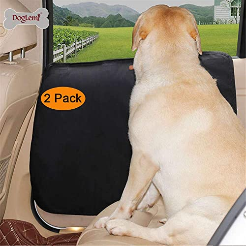 DogLemi 2 Pcs Car Door Protector for Dogs, Anti-Scratch Dog Car Door Cover, Waterproof Oxford Vehicle Door Guards for Cars SUV Pet Travel Gray 1 for Each Side
