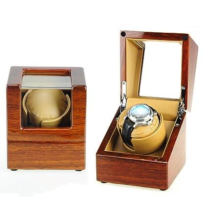 Lh$yu pera de Madera Maciza Watch Winder agitando la Caja de Reloj ...