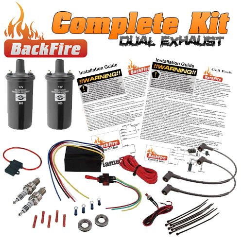 BackFire Dual Universal Automotive Exhaust Flame Thrower Fire Complete Car,Motorcycle,Truck Fire Throwing - Car Truck Flames